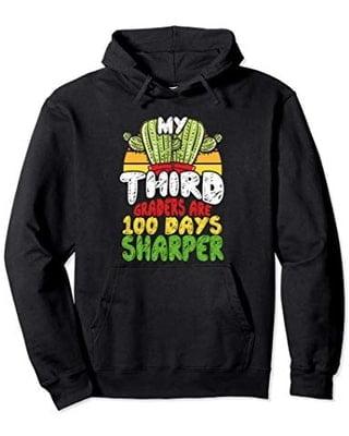 100th Day Of School Third Grade Teacher 100 Days Hoodies Short Sleeve Tee Shirt min