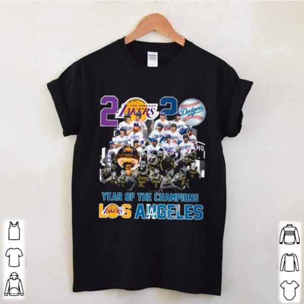 2020 Year Of The Champions La Lakers And La Dodgers classic t shirt 2 min