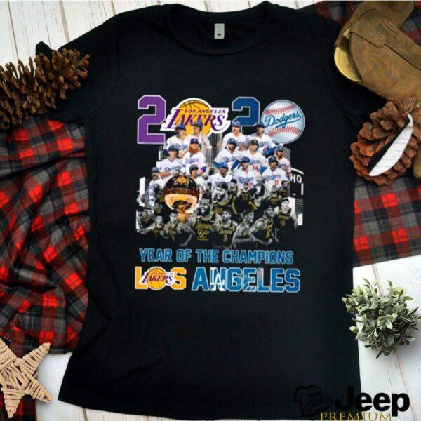 2020 Year Of The Champions La Lakers And La Dodgers classic t shirt 3 min