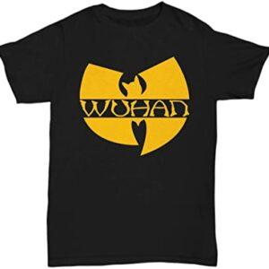 About The Client Wuhan Clan Wuhan Funny Wuhan Shirt Wuhan t Shirt wu han Clan Parody Essential Women and Mens T Shirt min
