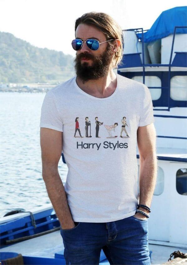 The Evolution Of Harry Styles shirt Harry Holmes Chapel Classic T Shirt 2 min