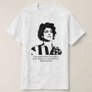 Abbie Hoffman Classic T Shirt 2 min