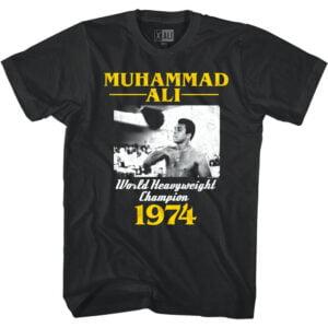Muhammad Ali World Heavyweight Champion 1974 Classic T Shirt min