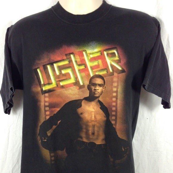 Vintage 2002 Usher Classic T Shirt min