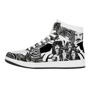 Black Sabbath High Top Air Jordan Sneaker 3