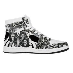 Black Sabbath High Top Air Jordan Sneaker 4