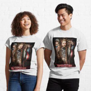 Chris Evans Steven Rogers Caption America Classic Unisex T Shirt min