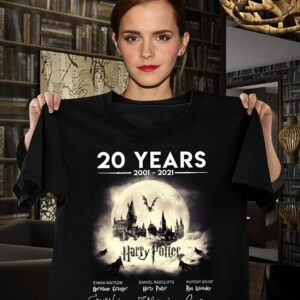 Harry Potter Signatures T Shirt Thank You For The Memories 20 Years 2001 2021 min