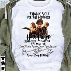 Harry Potter Thank You For The Memories Signature T Shirt S 6XL Good Cotton min