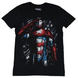 Iron Patriot Marvel Black T Shirt Good Cotton S 5XL min