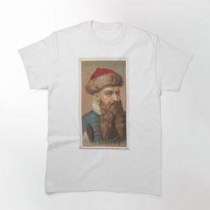 Vintage Johannes Gutenberg Illustration 1888 Classic Unisex Hoodie T Shirt 2 min