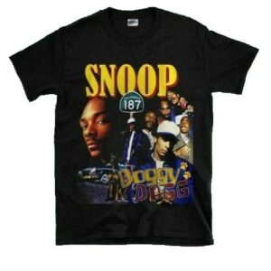 Vintage Snoop Dogg Black T Shirt S 5XL Good Cotton min