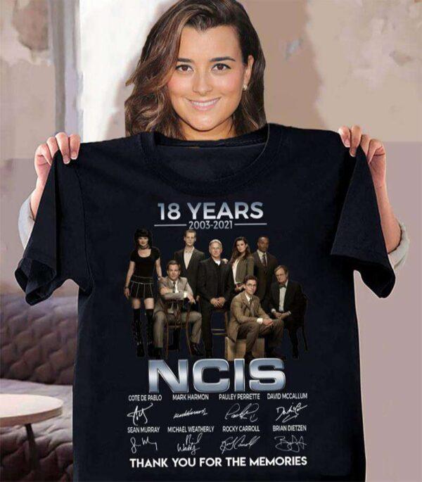 18 Years 2003 2021 NCIS Signatures Classic Unisex T Shirt
