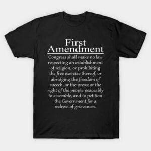 1st First Amendment U.S. Constitution Patriot Classic Unisex T Shirt
