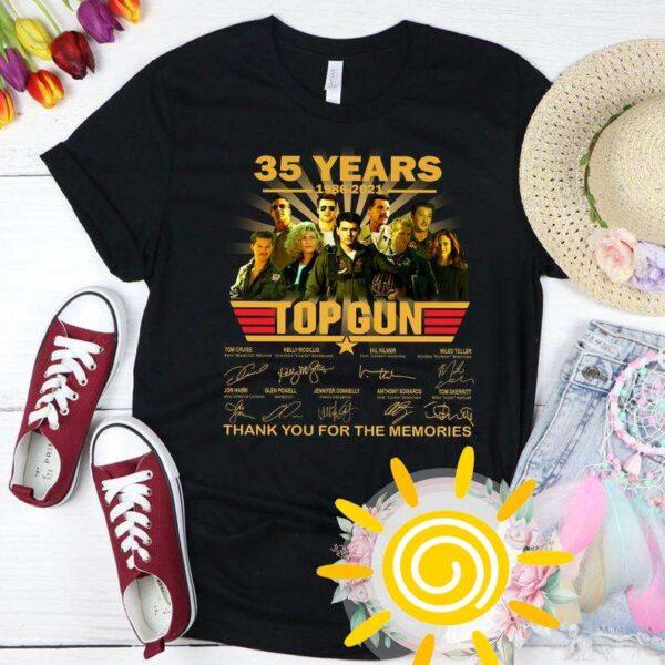 35 Years Of Top Gun MaverickTom Cruise Signature Classic Unisex T Shirt