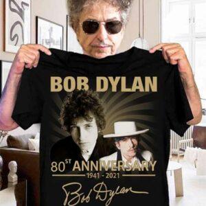 Bob Dylan 80st Anniversary T Shirt