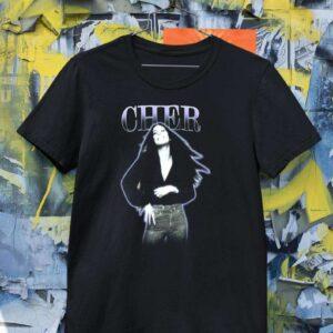 Cher Purple Outline Logo Classic Unisex T Shirt