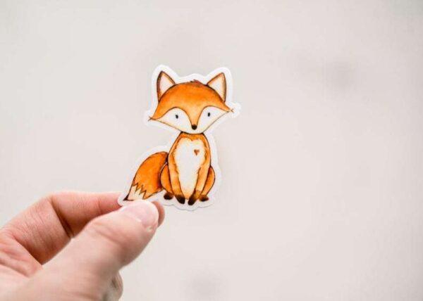 Cute Little Mini Fox Sticker