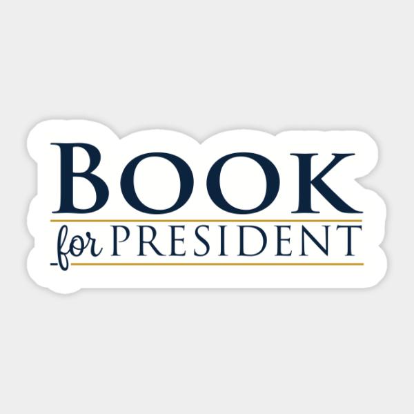 Ian Book For President Decorative Sticker