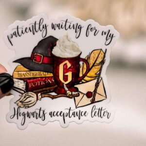 Patiently Waiting On My Letter Decorative Sticker