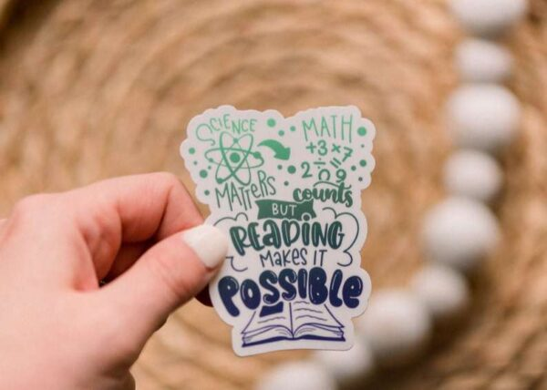 Reading Makes It Possible Vinyl Sticker