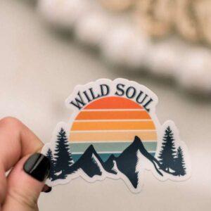 Wild Soul Retro Decorative Sticker