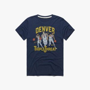 Nuggets Triple Threat Jokic Murray Porter Classic Unisex T Shirt