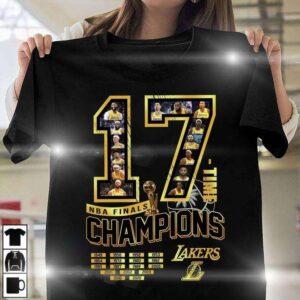 17 NBA Finals Champions Los Angeles Lakers T Shirt