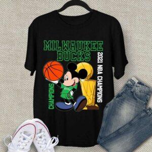 2021 NBA Champions Milwaukee Bucks Disney T Shirt