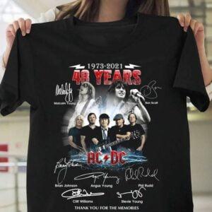 ACDC 48 Years Anniversary Past Present Members T Shirt