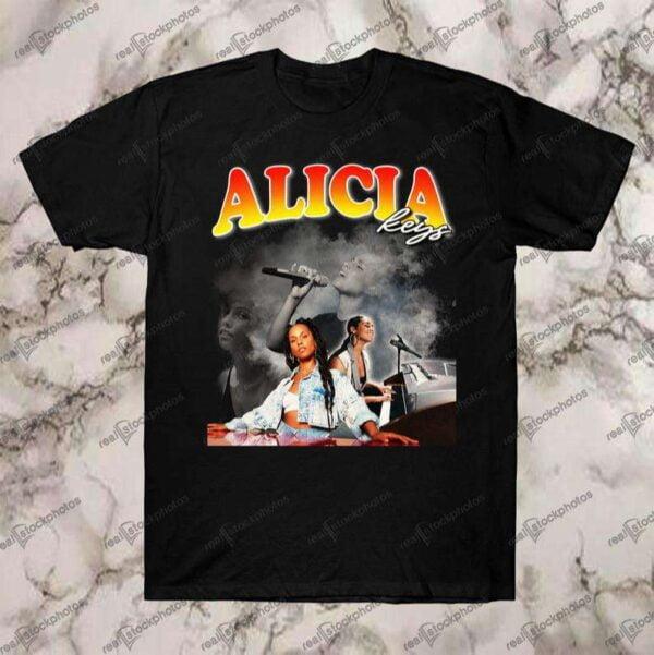 Alicia Keys Vintage Retro Style Rap 90s T Shirt