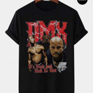 DMX Red Letters Vintage Retro Style Rap Music Hip Hop T Shirt