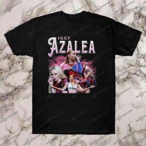 Iggy Azalea Vintage Retro Style Rap 90s T Shirt