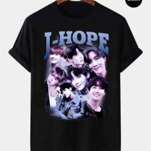 J hope BTS Vintage Retro Style Rap Music Hip Hop T Shirt