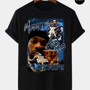 Pop Smoke Meet The Woo Vintage Retro Style Rap Music Hip Hop T Shirt