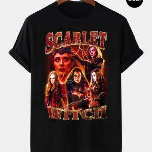 Scarlet Witch Wanda Maximoff Vintage Retro T Shirt