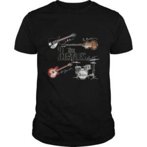 The Beatles Guitars Instrument Signatures Unisex T Shirt