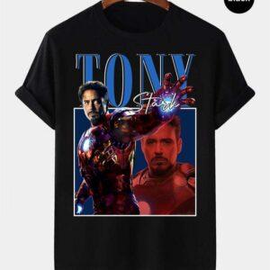Tony Stark Iron Man Vintage Retro T Shirt