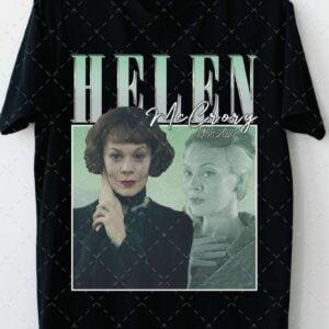Vintage Helen McCrory 1968 2021 Polly Gray Narcissa Malfoy T Shirt