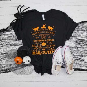 Black Cat Halloween Shirt