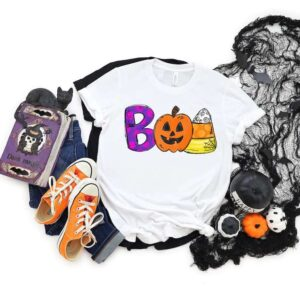 Boo Doodle Letters Halloween Shirt