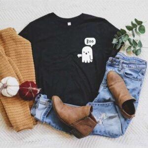 Boo Ghost Halloween T Shirt