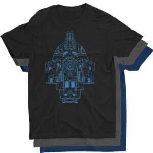 Defiant Class Blueprint Star Trek T Shirt