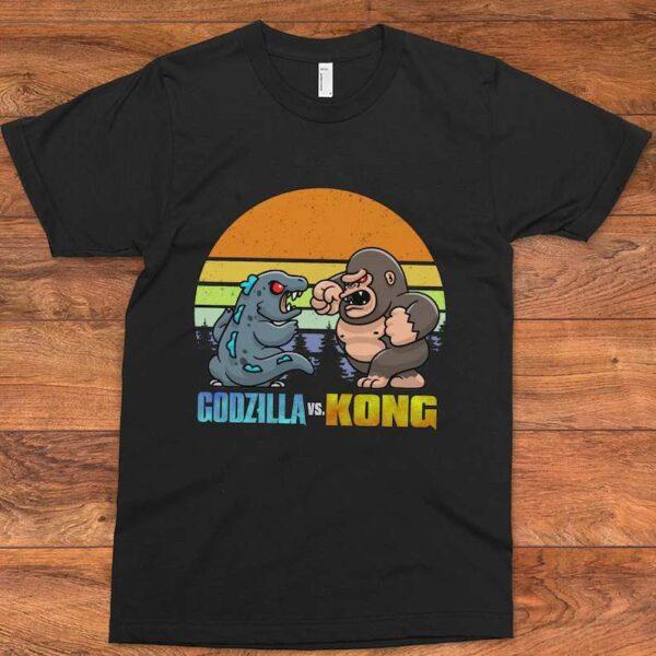 Godzilla vs Kong Cartoon Unisex T Shirt