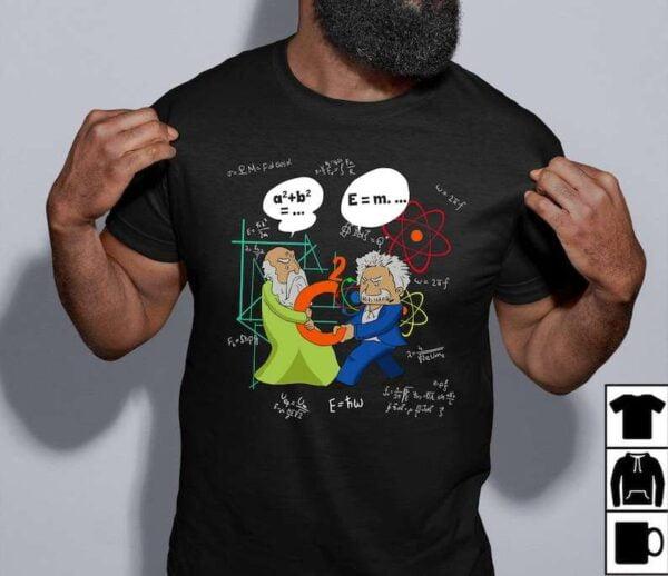Pythagoras And Einstein Unisex T Shirt