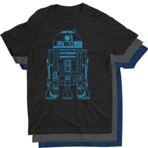 R2 D2 Blueprint Star Wars T Shirt