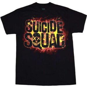 Suicide Squad Movie Flames Logo T shirt