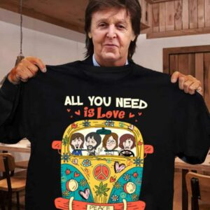 All You Need Is Love The Beatles Hippie Car Unisex T Shirt