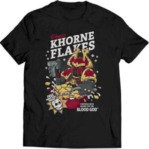 Chaos Khorne Flakes Fortified with Blood for The Blood God Unisex T Shirt