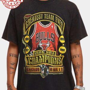 Chicago Bulls Greatest Team Ever Vintage Unisex T Shirt